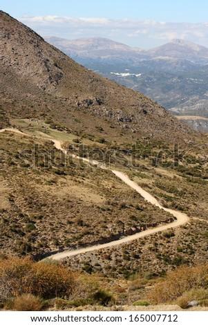 winding road in Sierra Subbetica