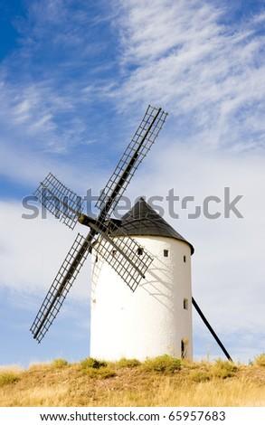 windmill, Alcazar de San Juan, Castile-La Mancha, Spain