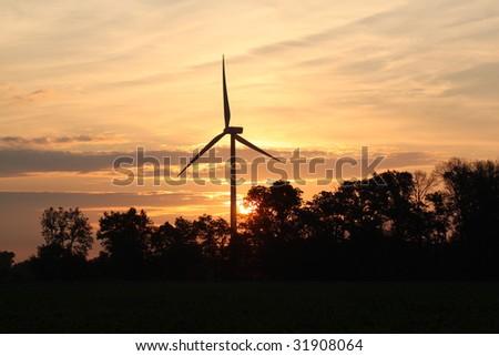 Windmill at sunrise