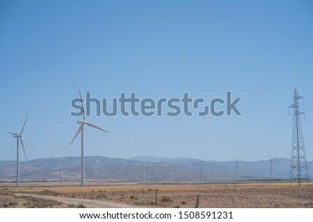 windmill field generating clean energy #1508591231