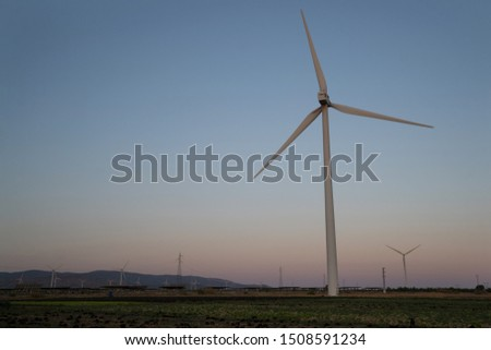 windmill field generating clean energy #1508591234