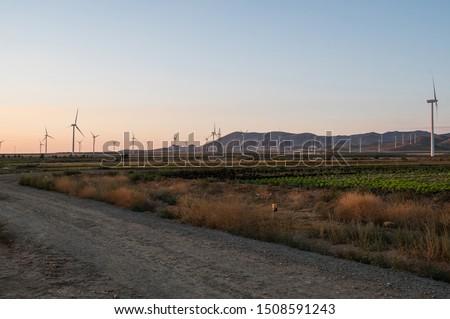 windmill field generating clean energy #1508591243