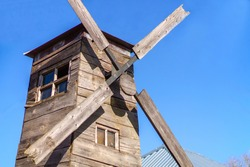 Windmill. For decoration in style of peasant life of 18th century. Topic: peasant style in interior