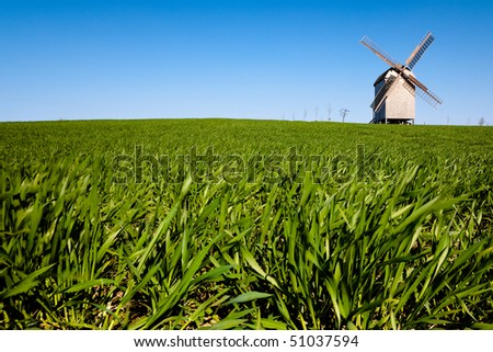 Windmill in Brandenburg, Germany