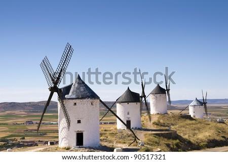 "Windmill in Consuegra, Spain. Memory of ""Don Quixote"""