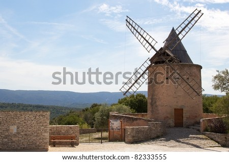 Windmill in Goult, France