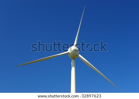 windmill in the blue sky