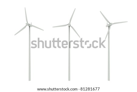 Windmill isolated on white background