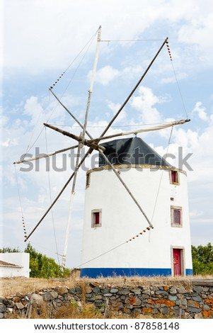 windmill near Beja, Alentejo, Portugal