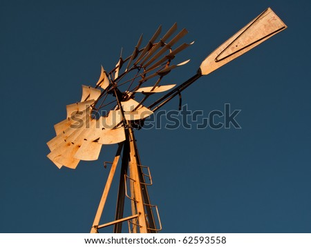Windmill on a ranch in Texas