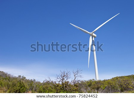 Windmill On Top Of A Hillside