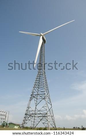 windmill ,Power on blue sky