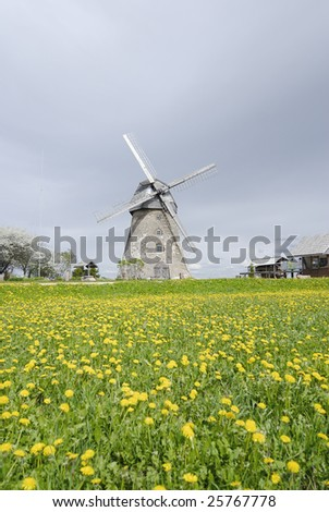 windmill which is waiting for the renewal