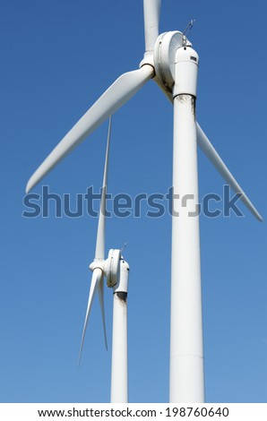 windmills for clean energy production renewable electric, Navarre, Spain