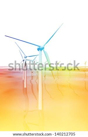 Windmills generators in the sea