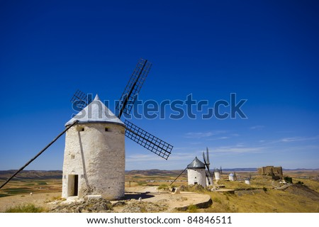 windmills in spain, Consuegra, la mancha