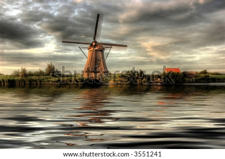 Windmills in sunset 2