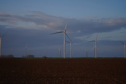 windmills, new and cheaper natural energy. wind farm in europe