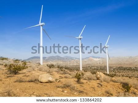 Windmills On Hillside