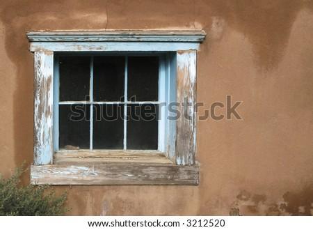 Window, Adobe Architecture, Albuquerque, New Mexico, USA