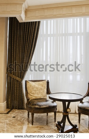 Window coverings: side panels with sheers