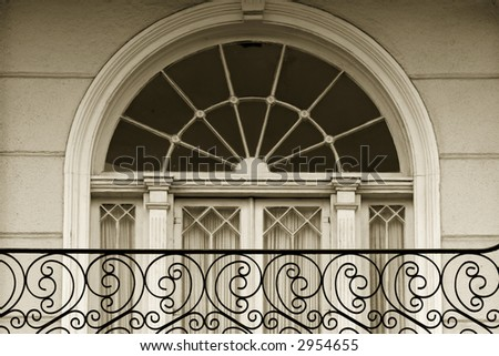 Window detail in Garden district of New Oleans