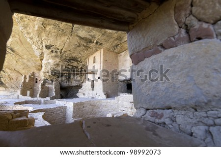 Window in Mesa Verde National Park, Colorado, United States