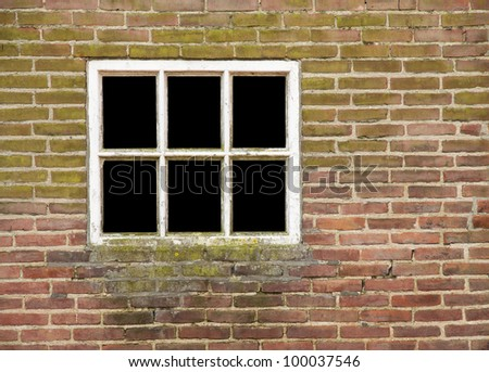 Window in old wall, view has been removed