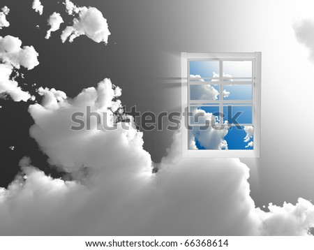 Window in sky