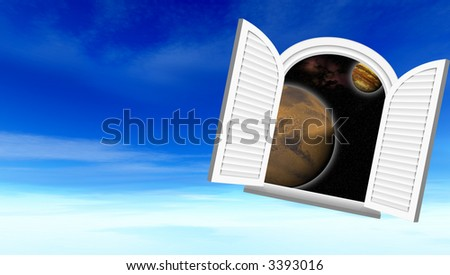 Window in space (Sight in space through a window)