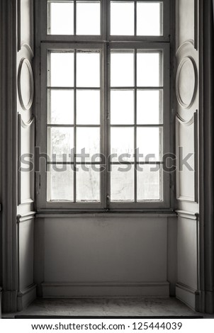 Window in white frame #125444039