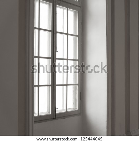 Window in white frame