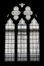 Window inside a church.