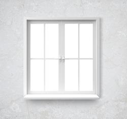 Window isolated on gray background