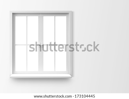 Window isolated on white background