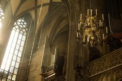Window Lighting to Lantern in Saint Stephan Cathedral - Vienna, Austria