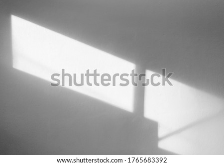 Window natural shadow overlay on white texture background, for overlay on product presentation, backdrop and mockup