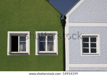 Window of a house in Obernberg at the Inn