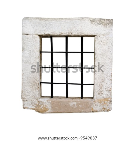 Window of an ancient prison cell