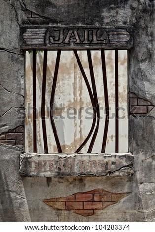 Window of jail after prisoner escape