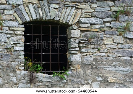 window of old prison from stontes - background