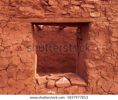 Photo of  Window of the Abo Ruins, Salinas Pueblo Missions National Monument, New Mexico.