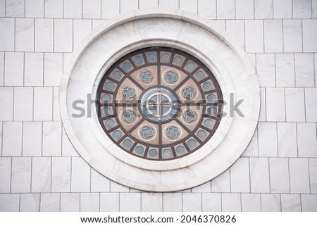 Window of the Temple of Saint Sava, Belgrade, Serbia Stok fotoğraf ©