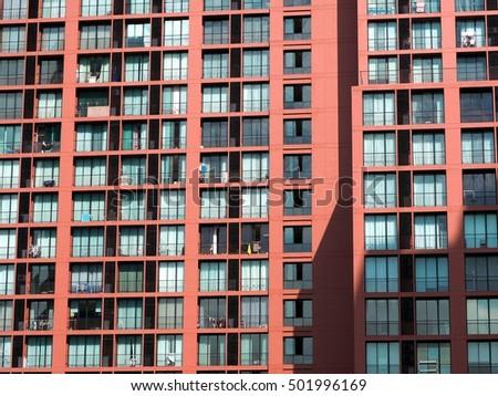Window of urban building. City lifestyle. #501996169