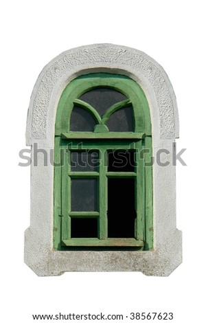 Window on a white background