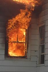 Window on Fire