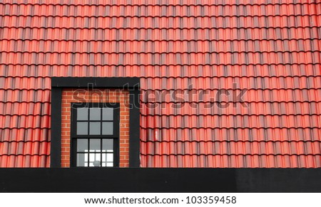 Window on the roof texture background
