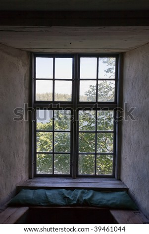 window recess in a old castle