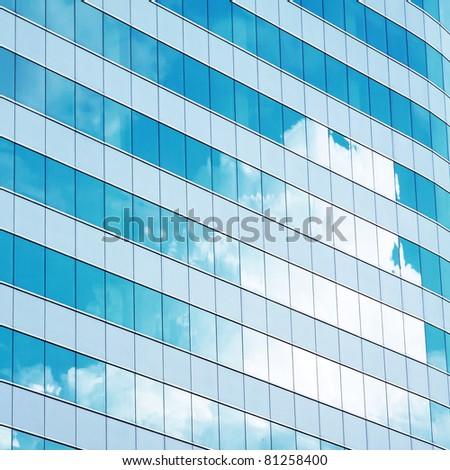 Window reflection - stock photo