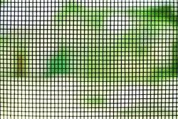 Window screen texture, closeup